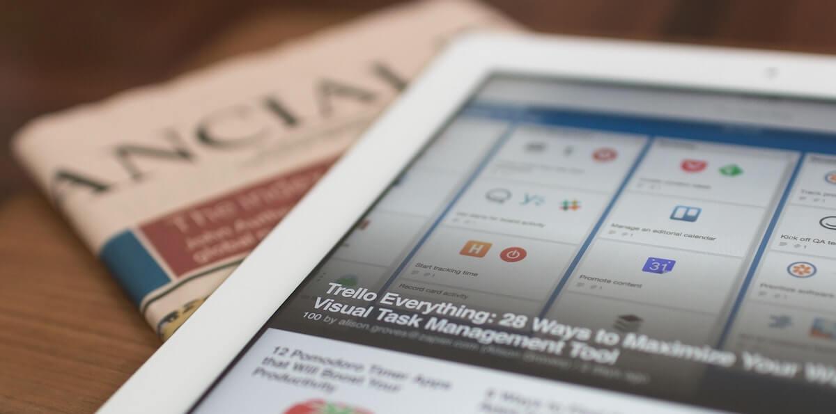 News and media on iPad